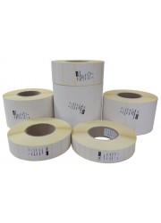 Χάρτινες αυτοκόλλητες θερμικές ετικέτες 83mm x 55mm (4 ρολά / 5.000 ετικέτες)