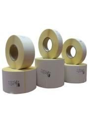 Χάρτινες αυτοκόλλητες ετικέτες θερμικής μεταφοράς 55mm x 25mm (8 ρολά / 43.200 ετικέτες)