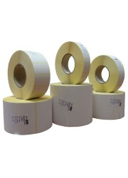 Χάρτινες αυτοκόλλητες ετικέτες θερμικής μεταφοράς 64mm x 34mm (8 ρολά / 32.000 ετικέτες)