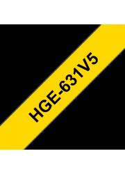 Brother HGE-631V5 Ταινία Ετικετογράφου (Σετ 5 τμχ)